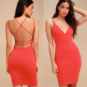 Lulu's Be-All Trend-All Backless Plunge Midi Dress